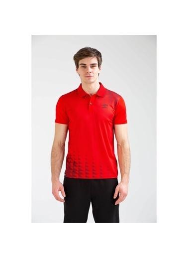Umbro Sens Polo Tf-0045 Gri Erkek Tişört Kırmızı